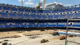 Imágenes actualizadas: así está el Bernabéu por dentro
