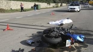 Accidente mortal de un motorista.