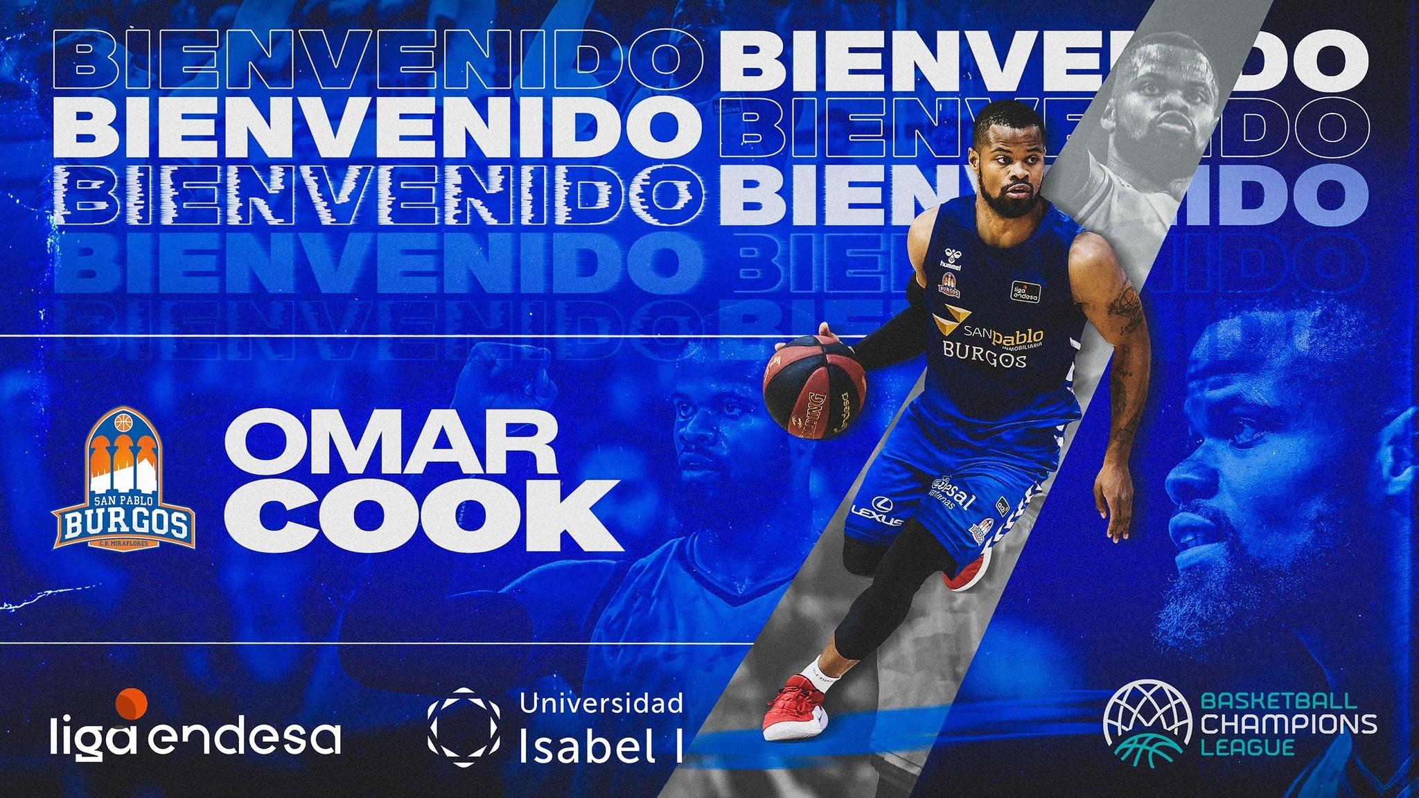 Omar Cook firma por el San Pablo Burgos, su sexto equipo en la Liga Endesa