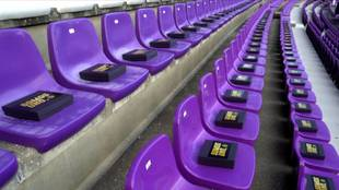 Los amuletos de los aficionados del Real Valladolid se recogieron en...