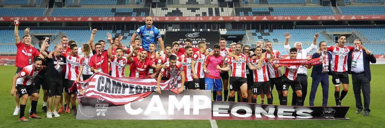 La UD Logroñés, a segunda tras vencer al Castellón