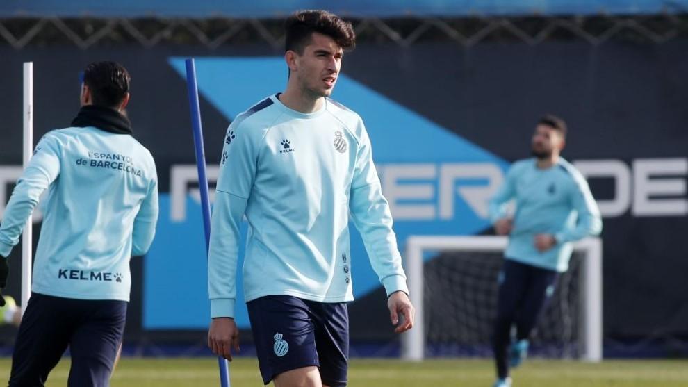 Marc Roca, en un entrenamiento.