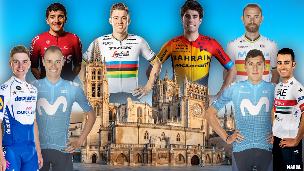 Montaje MARCA de los favoritos con la catedral de Burgos por detrás