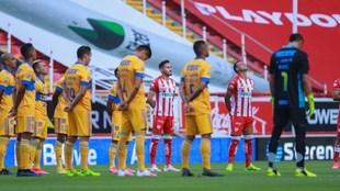Previo al inicio del partido de la fecha 1 del Apertura 2020.