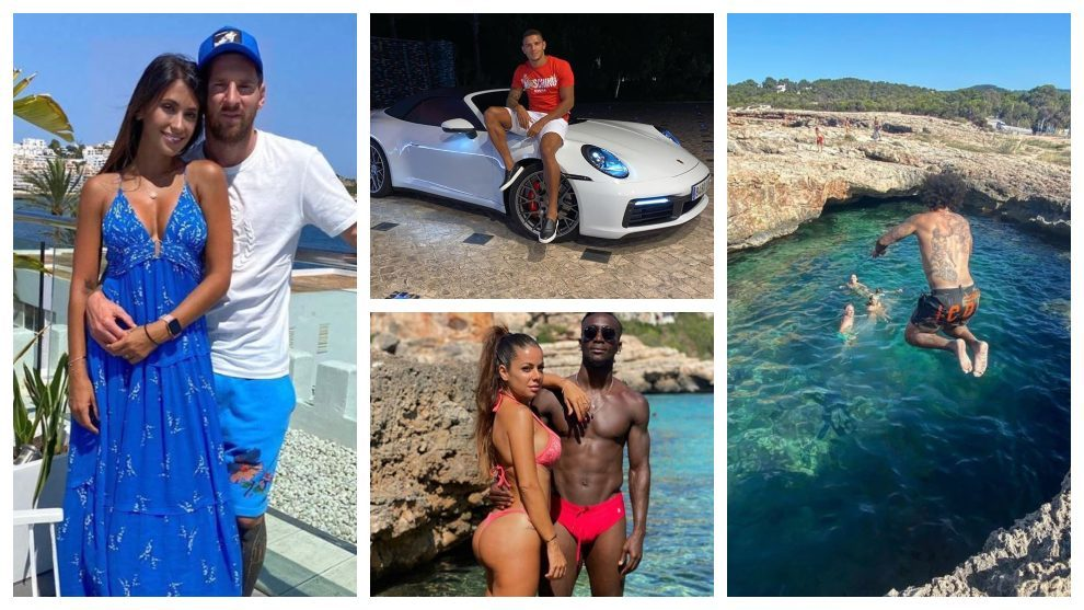 In pictures: Footballers' summer 2020 holidays