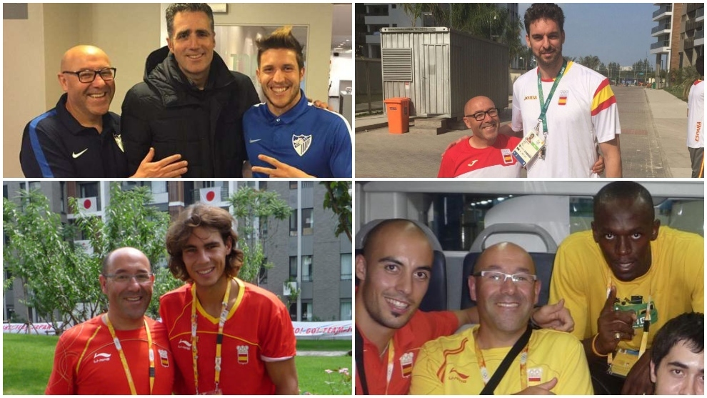 Montaje de Torrontegui con algunos cracks del deporte español