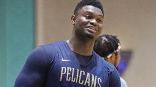 Zion Williamson, jugador de los Pelicans de Nueva Orleans.