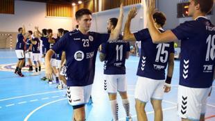 Lucas Aizen, antes de un partido con la selección argentina absoluta...