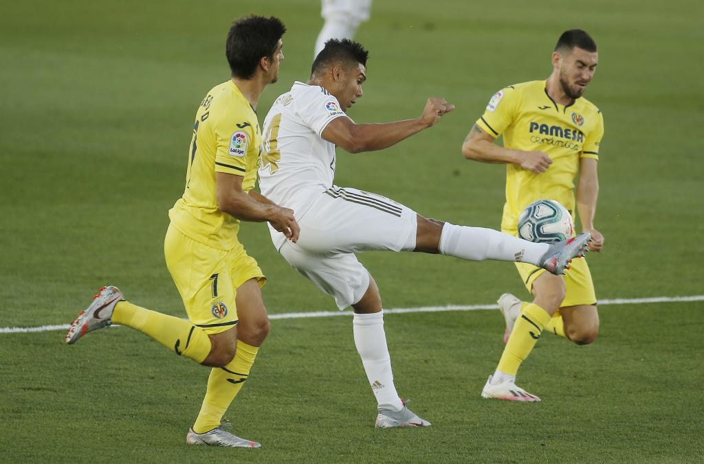 Casemiro, durante el encuentro liguero frente al Villarreal