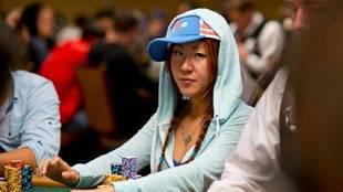 Susie Zhao, en un torneo de poker.