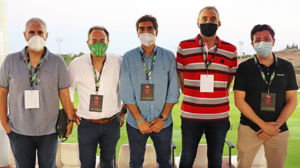 Betis: Cordn ya ejerce: presenci el ascenso del filial junto a Haro y Cousillas