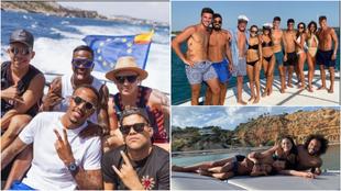 Asensio y Llorente comparten embarcación, Marcelo y familia...