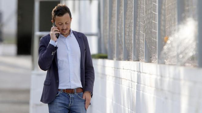 Pablo Longoria, en la ciudad deportiva de Paterna.