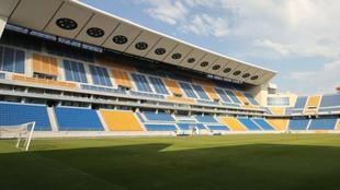 Grada principal del estadio Ramón de Carranza.