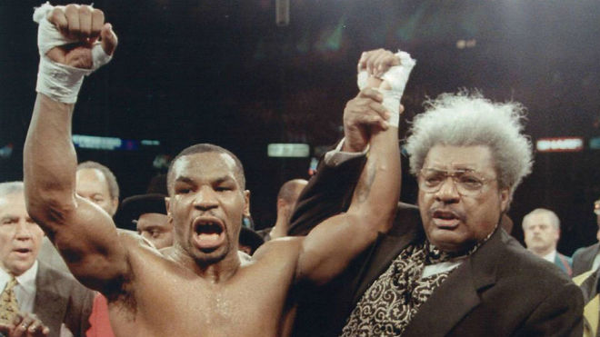 Mike Tyson y Don King.