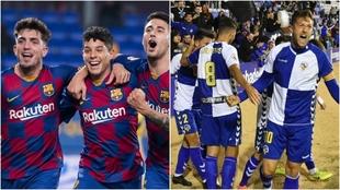 Barça B y Sabadell pugnan por volver a Segunda división