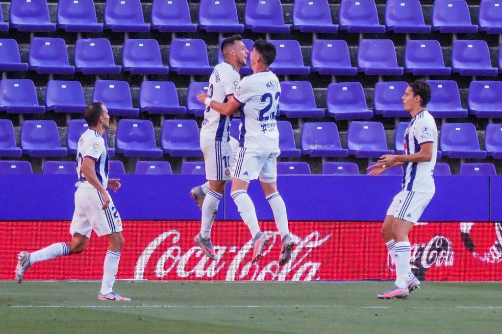 El Valladolid celebrando uno de los goles anotados en la última jornada frente al Betis