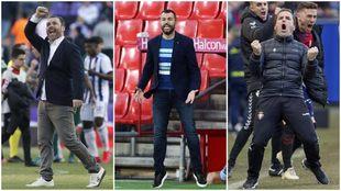 Los tres técnicos han alcanzado el éxito esta temporada con sus...