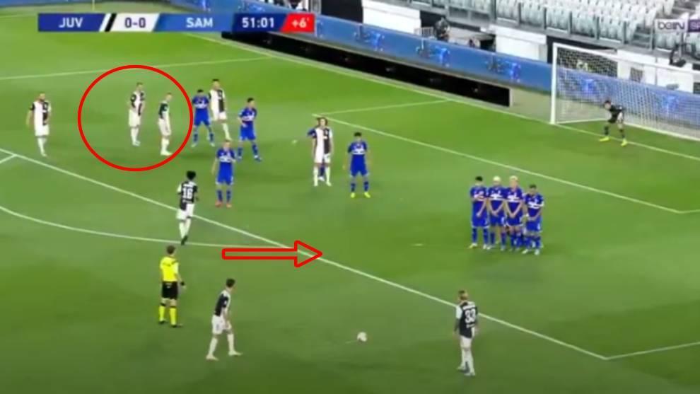 El engaño de Cristiano: no tira la falta, se 'esconde' y acaba marcando un golazo