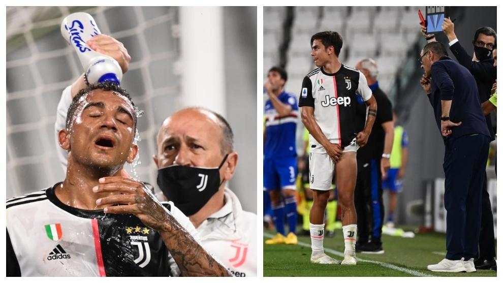 Danilo, conmocionado, y Dybala, tocado, se retiraron lesionados.
