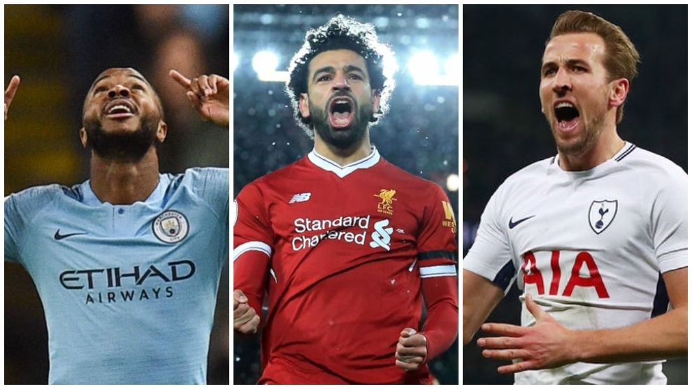 Sterling, Salah y Harry Kane son tres de los nombres del top