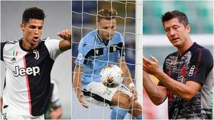 Cristiano Ronaldo, Immobile y Lewandowski, candidatos a la Bota de...