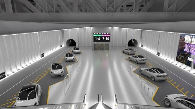 Así sería una de las estaciones del túnel de Las Vegas.