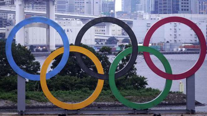 Los aros olímpicos.