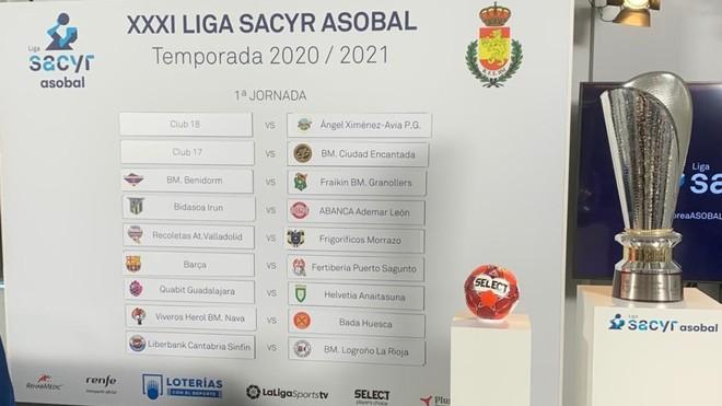 Asobal veta a los dos ascendidos en el sorteo del calendario de la Liga