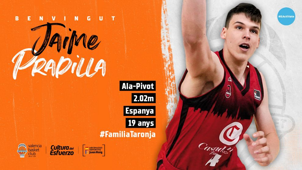 El joven y talentoso Jaime Pradilla firma por cuatro temporadas con Valencia Basket