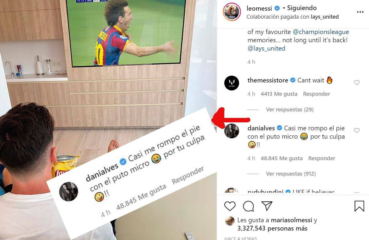 Dani Alves to Messi: I almost broke my foot because of you!