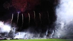 Los fuegos artificiales del Kraken retrasan el inicio del Mazatlán vs...