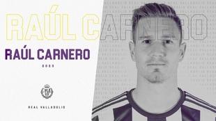 Raúl Carnero nuevo jugador del Valladolid. Real Valladolid C.F.