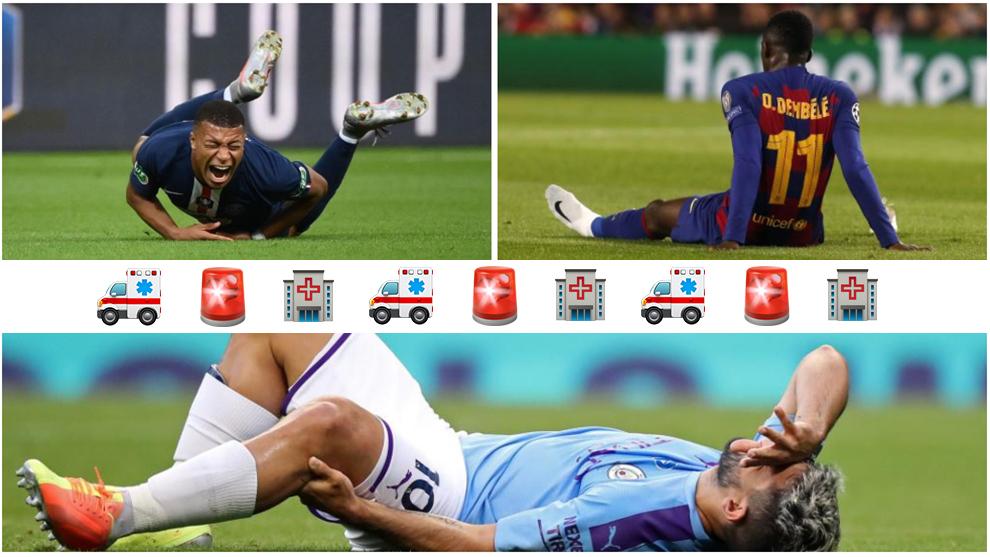 Mbappé, Agüero, Thomas, Dybala... La enfermería de la Champions League se llena