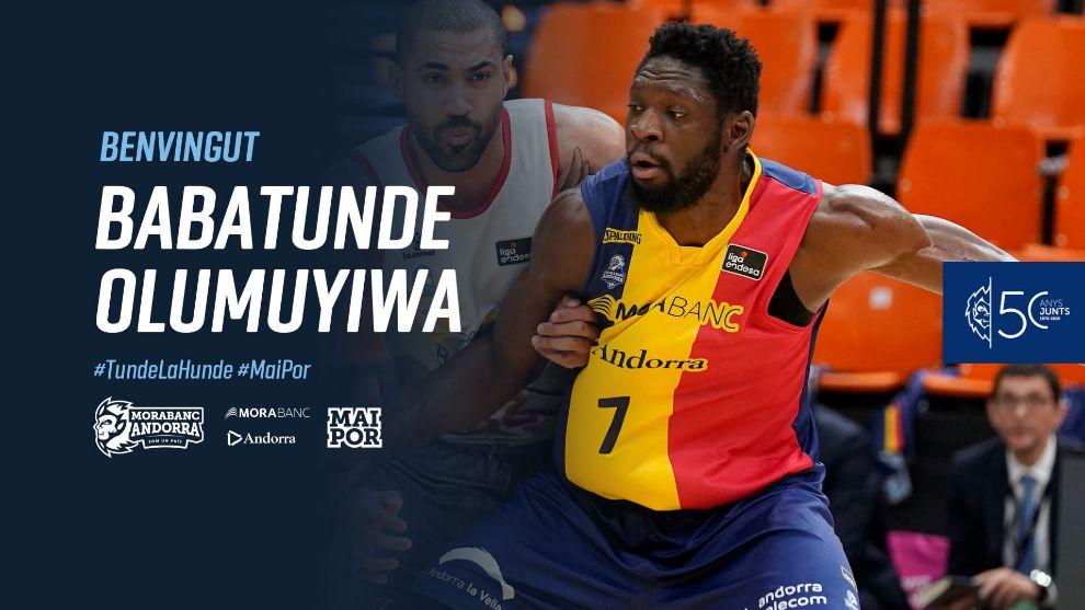 'Tunde' Olumuyiwa cierra la plantilla del MoraBanc Andorra