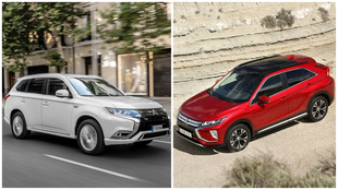 Los Mitsubishi Outlander PHEV y Eclipse Cross.
