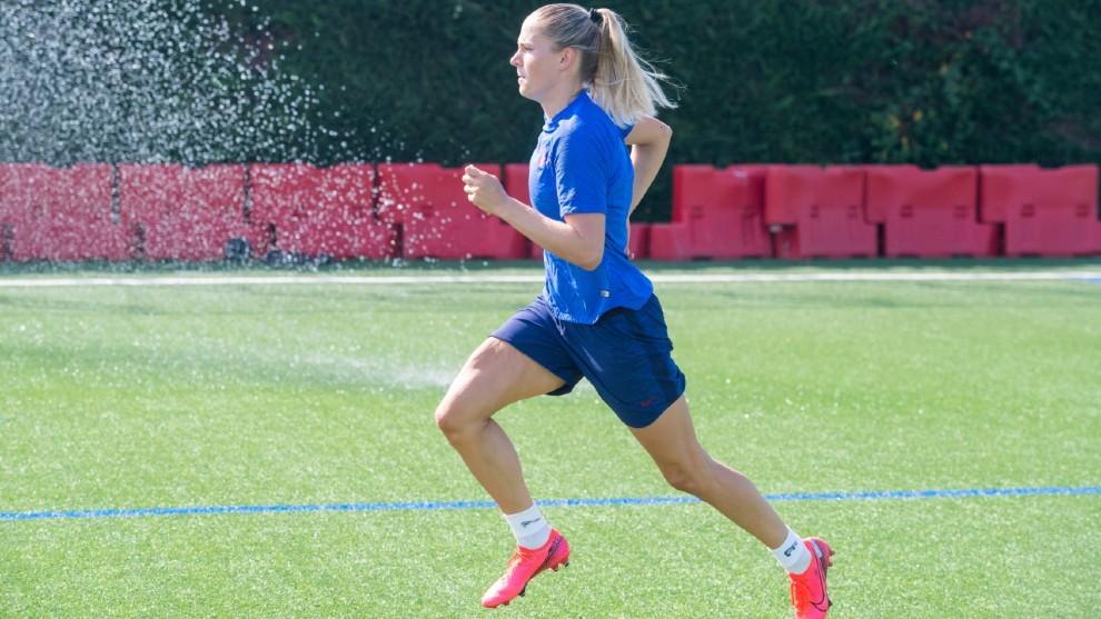 Ana-Maria Crnogorcevic, durante un entrenamiento de pretemporada.