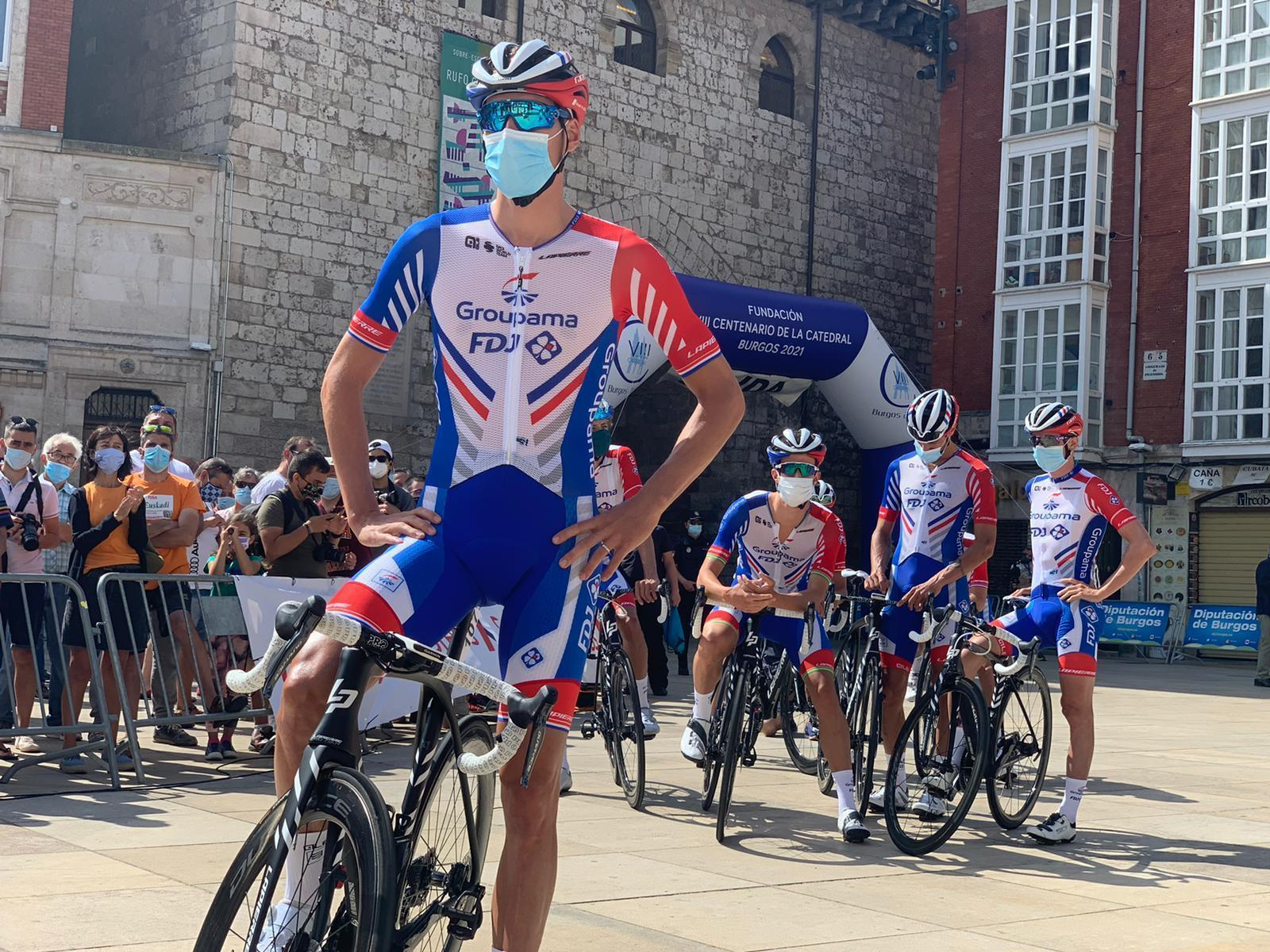 Cyclists of the Groupama Quick-Step