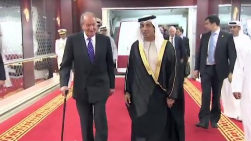 El Rey Juan Carlos y el jeque de Dubai Mohammed bin Rashid en 2011.