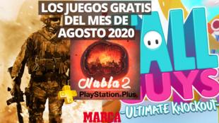 Juegos gratis del mes de agosto 2020 en PlayStation Plus. Fotomontaje