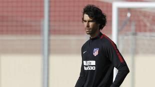 Tiago durante una sesión de entrenamiento del Atlético de Madrid