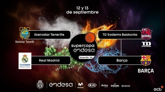 Baskonia-Barcelona y Madrid-Iberostar, semifinales de la Supercopa