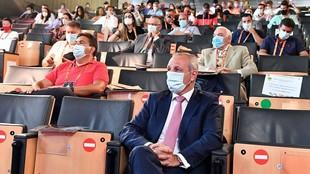 Francisco Blázquez, durante la Asamblea de la RFEBM en la que ha sido...