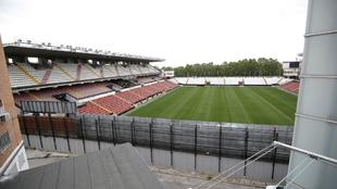 Vistas del Estadio de Vallecas desde el balcón de un vecino del...