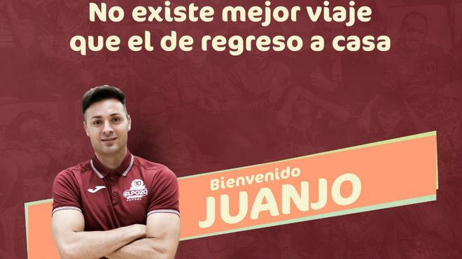 Imagen de bienvenida del club murciano a Juanjo.