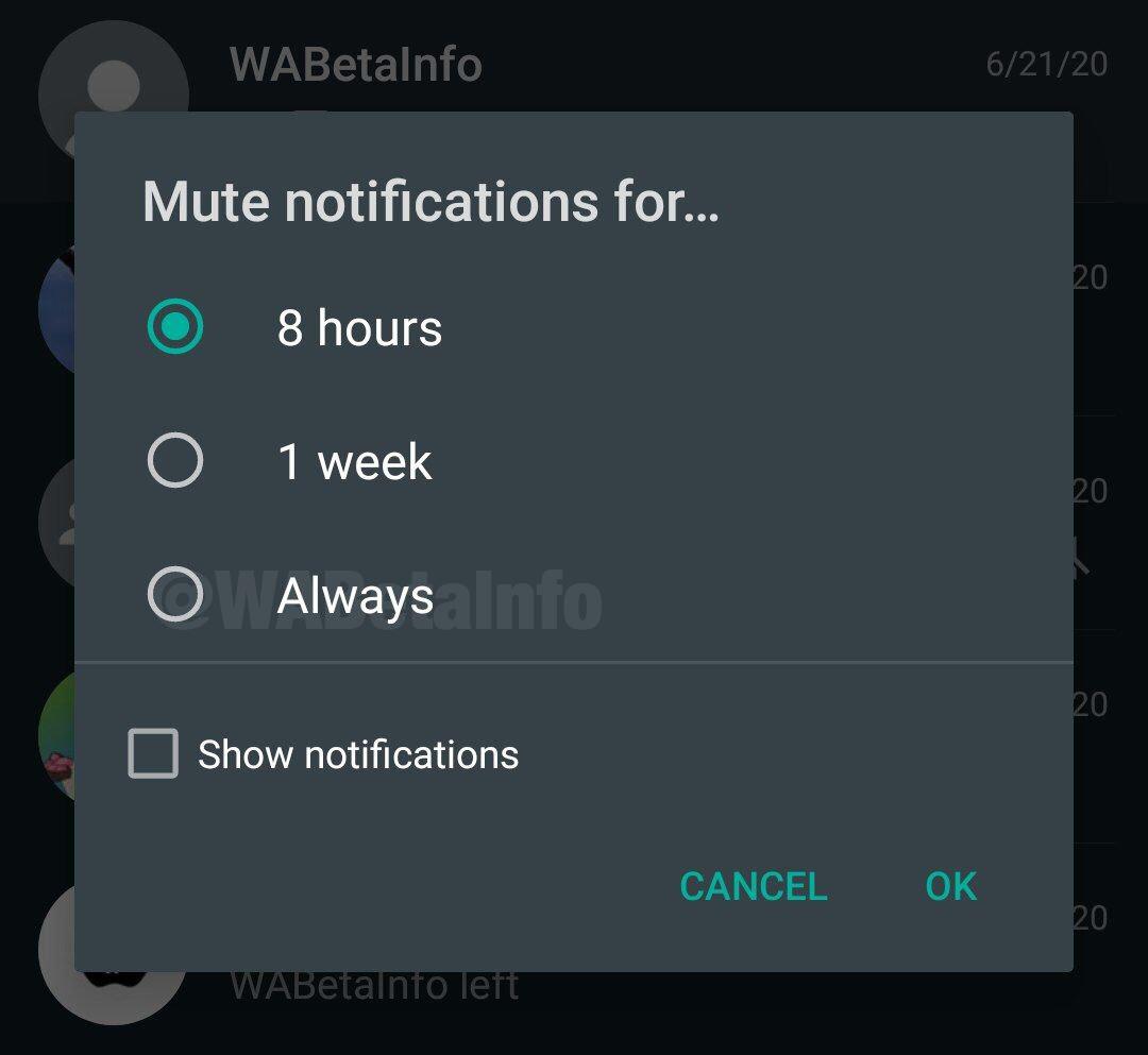 Cómo silenciar un grupo de WhatsApp para siempre