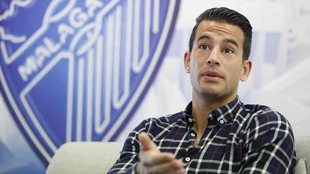 Luis Hernández, durante una entrevista con MARCA
