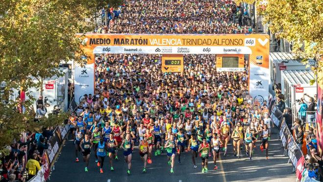 La salida del Medio Maratón de Valencia.