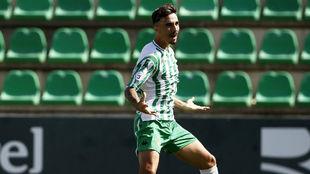 Robert, celebrando un gol con el Betis Deportivo
