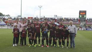Once inicial del Reus en ese partido contra el Valladolid en junio de...